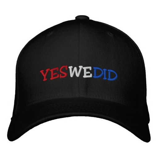 Hicimos sí el gorra bordado Barack Obama Gorra De Beisbol Bordada