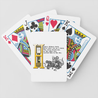 Hickery Dickery Dock Bicycle Playing Cards