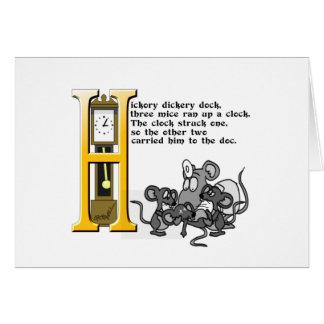 Hickery Dickery Dock Card
