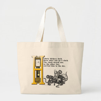 Hickery Dickery Dock Large Tote Bag