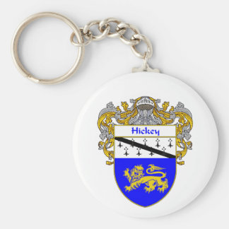 Hickey Coat of Arms (Mantled) Basic Round Button Keychain
