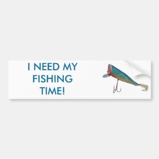 Hickey hace serie del señuelo de la pesca del vint pegatina para auto