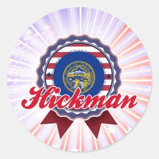 Hickman, NE Pegatina Redonda