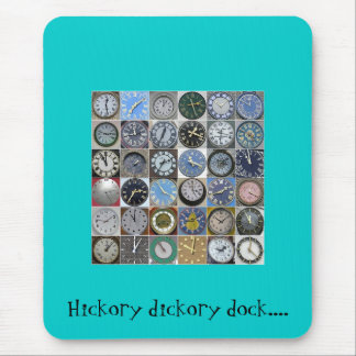 Hickory dickory dock.... mouse pad