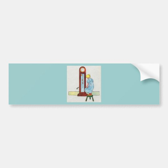 Hickory, dickory, dock! The mouse ran up the clock Bumper Sticker