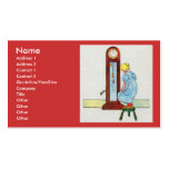Hickory, dickory, dock! The mouse ran up the clock Double-Sided Standard Business Cards (Pack Of 100)