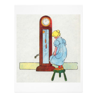 Hickory, dickory, dock! The mouse ran up the clock Flyer