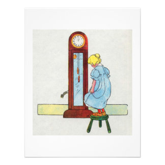 Hickory dickory dock The mouse ran up the clock Invite