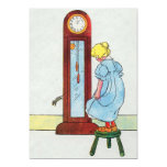 Hickory, dickory, dock! The mouse ran up the clock 5x7 Paper Invitation Card