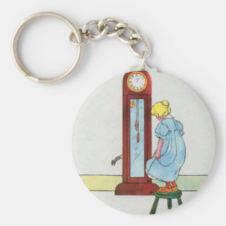 Hickory, dickory, dock! The mouse ran up the clock Key Chain