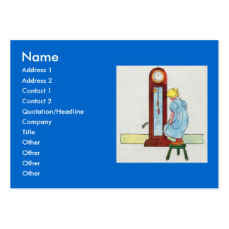 Hickory, dickory, dock! The mouse ran up the clock Large Business Cards (Pack Of 100)