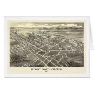 Hickory, NC Panoramic Map - 1907 Card