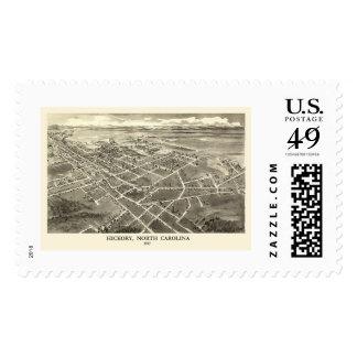 Hickory, NC Panoramic Map - 1907 Postage Stamps
