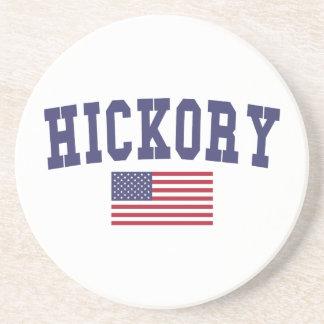 Hickory US Flag Sandstone Coaster