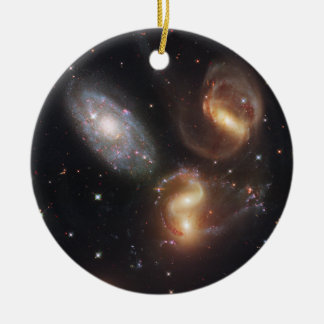 Hickson Compact Group 92 Stephan's Quintet Ceramic Ornament