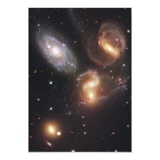 "Hickson Compact Group 92 Stephan's Quintet 5"" X 7"" Invitation Card"
