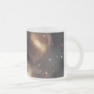 Hickson Compact Group 92 Stephan's Quintet 10 Oz Frosted Glass Coffee Mug