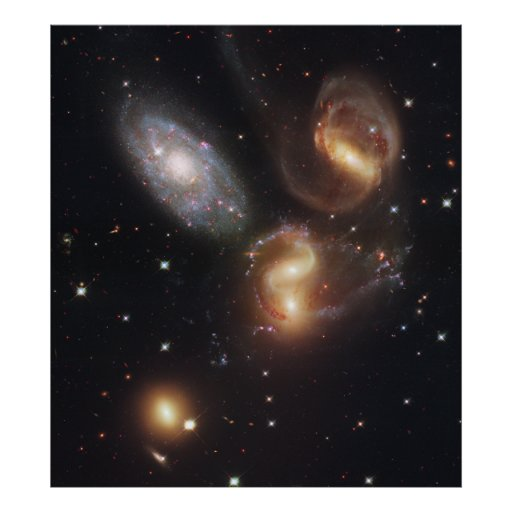 Hickson Compact Group 92 Stephan's Quintet Posters