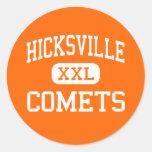 Hicksville - Comets - High - Hicksville New York Round Sticker