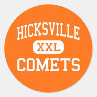 Hicksville - Comets - High - Hicksville New York Classic Round Sticker