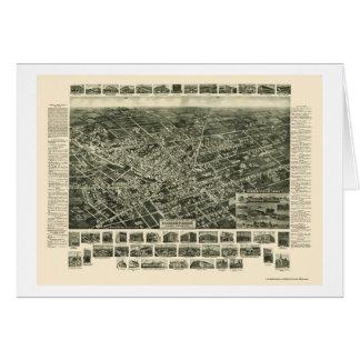 Hicksville, mapa panorámico de NY - 1925 Tarjeta De Felicitación