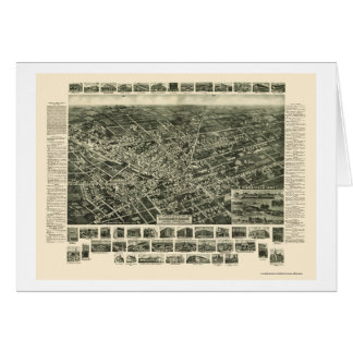 Hicksville, NY Panoramic Map - 1925 Card