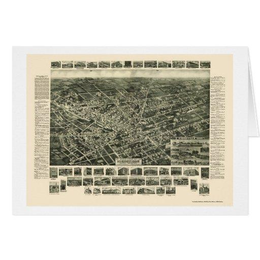 Hicksville, NY Panoramic Map - 1925 Greeting Card