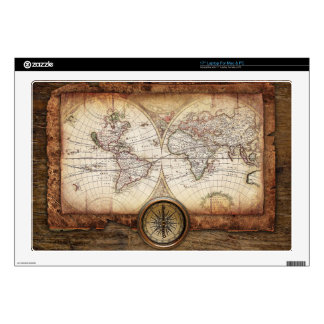 "Hictorical map decals for 17"" laptops"