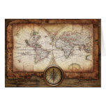 Hictorical map greeting card