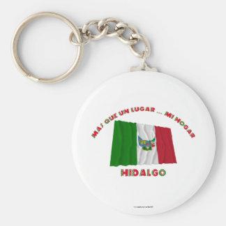 Hidalgo - la O.N.U Lugar… MI Hogar de Más Que Llavero Redondo Tipo Pin