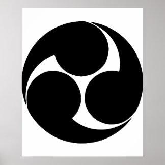 Hidari mitsudomoe, Japan Poster