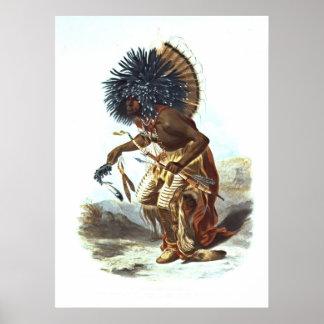 Hidatsa Warrior 1839 Print