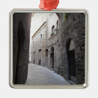 Hidden alley in Volterra village, province of Pisa Metal Ornament