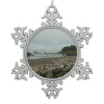 Hidden Beach I at Redwood National Park Snowflake Pewter Christmas Ornament