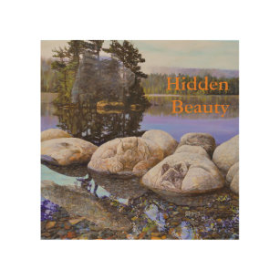 Hidden Beauty Painting Wood Wall Art  sc 1 st  Zazzle & Painted Moose Wood Wall Art | Zazzle