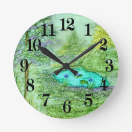 Hidden Beauty Round Clock