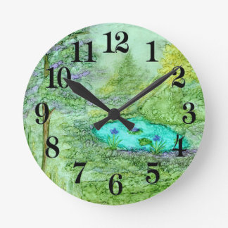 Hidden Beauty Round Clock