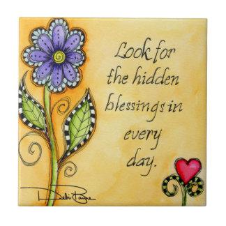 Hidden Blessings Ceramic Tile