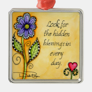 Hidden Blessings Metal Ornament