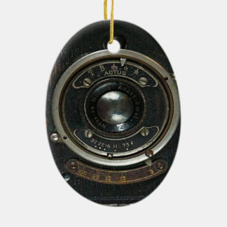 Hidden Camera collection Double-Sided Oval Ceramic Christmas Ornament