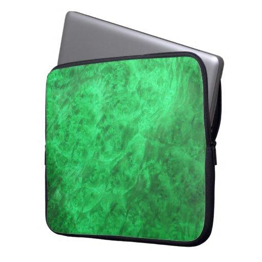 Hidden Canines/Emerald Walnut Burl Laptop Sleeve