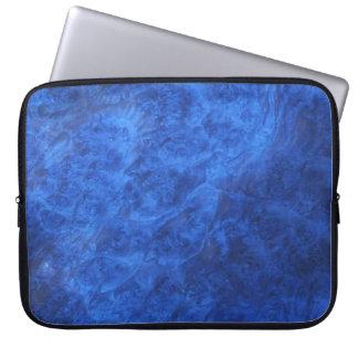 Hidden Canines in Blue Walnut Burl Laptop Sleeve