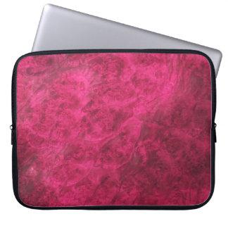 Hidden Canines/Ruby Walnut Burl Laptop Sleeve