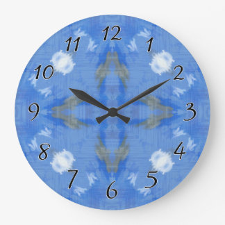 Hidden Depths Abstract Large Clock