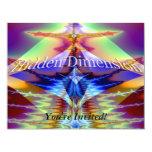 "Hidden Dimension 4.25"" X 5.5"" Invitation Card"