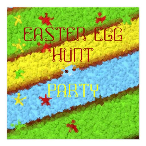 Hidden Easter Egg Woman Hunt Invitation
