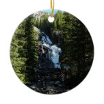 Hidden Falls in Grand Teton National Park Ceramic Ornament