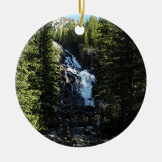 Hidden Falls in Grand Teton National Park Ceramic Ornament