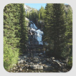 Hidden Falls in Grand Teton National Park Square Sticker