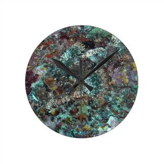 Hidden Fish Under Water Natural Camo Round Clock